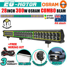 28INCH 300W OSRAM LED WORK LIGHT BAR SPOT FLOOD COMBO OFFROAD LAMP 120/480/500W