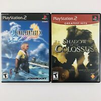 Final Fantasy X / Shadow of the Colossus (Playstation 2 PS2, NTSC) Manuals Incl.
