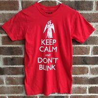 Doctor Who Tshirt Keep Calm Don't Blink Weeping Angel Tee Shirt XS