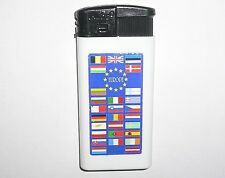 Pocket plastic lighter of the European Union with the flags of countries