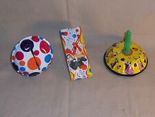 Vintage Tin Noise Makers Us Metal Toy Mfg Co Lot of 3