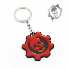 GEARS OF WAR Keychain CRIMSON OMEN Skull GOW Metal Key ring Game Keyholder NEW