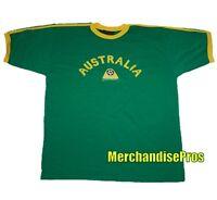 MEN'S AUSTRALIA FIFA WORLD CUP SOCCER TEE 100% COTTON X-LARGE T-SHIRT XL NEW!