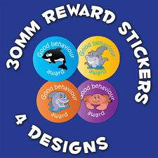 144 x 'Good Behaviour' 30mm Child Reward Stickers - For School Teachers/ Parents