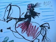 Pablo Picasso Toros Y Toreros 1961 Color Lithograph Print Horse Limited Edition
