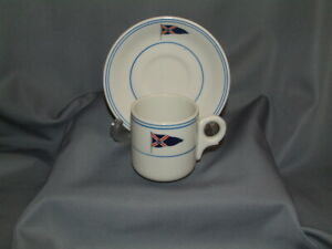 Royal Motor Yacht Club Demitasse Coffee Cup & Saucer