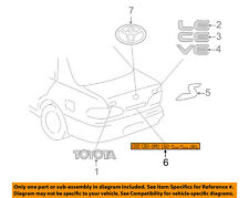 TOYOTA OEM 98-02 Corolla Trunk Lid-Emblem Badge Nameplate 7544202020