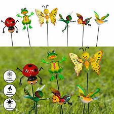 6x Gartenstecker verschiedene Tiere H60 bunt Beetstecker Blumentopf Gartendeko