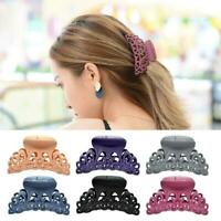 Women Girl Stylish Vintage Hair Claw Clips Large Hair Clip Acrylic Hairpin T5L5