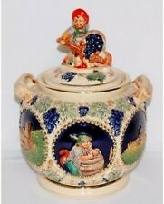 German Jar with Historical Scenes with Lid and Handled Pre-owned