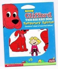 Clifford the big red dog scholastic books temporary tattoos new
