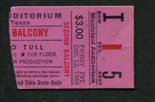 1969 Jethro Tull Fleetwood Mac The Flock concert ticket stub Texas Stand Up