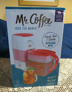 Mr Coffee ICE TEA MAKER Red 3 Quart TM75 *NEW IN SEALED BOX*