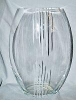 große Kristallvase, modern, Skandinavien, 30 cm