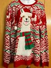 JOLLY SWEATERS Unisex Ugly Christmas Sweater Party Llama With Scarf XXL FUN