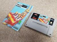 Theme Park Manual GENUINE ORIGINAL SNES GAME CART Super Nintendo PAL
