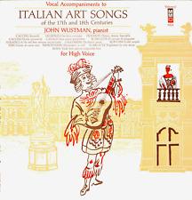 LP ITALIAN ART SONGS 17TH & 18 CENTURIES JOHN WUSTMAN PIANIST