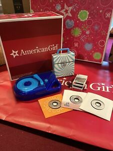 American Girl Julie's Sound Accessories working Record Player Records Rare Set