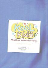 KOOL KIDS Ocean Blue Ruffled KING SINGLE Size Valance 106x203x33cms NEW