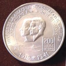 SILVER COIN - PERU 200 SOLES gr.22 ASW mm.37 - PROOF - YEAR 1975