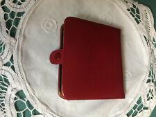 4fed77849bf45 Goldpfeil Vintage Geldbörse Portemonnaie Bügelbörse Leder Rot Geldtasche