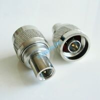 Adapter N male TYPE plug to FME male Jack RF coaxial  connector Converter