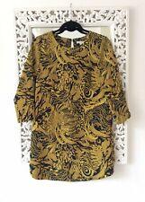 H&M amarillos y verdes Versace Imprimir Vestido Túnica, tamaño de Reino Unido 8-10 Inmaculada
