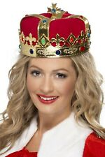 Queen's Royal Crown Adult Womens Smiffys Fancy Dress Costume Accessory Royalty