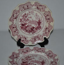 ANTIQUE CHINESE FOUNTAINS MAKER EKB SET OF 5 DESERT PLATES
