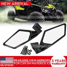 2pcs Rear View Side Racing Side Mirrors for Can Am Maverick X3 / X3 Max Turbo R