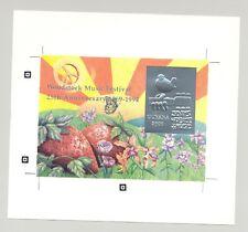 Guyana 1994 Woodstock, Butterflies 1v Silver S/S Proof
