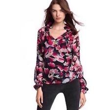 Camisas y tops de mujer de manga larga multicolores, 100% seda