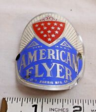 AMERICAN FLYER BICYCLE FRONT METAL BADGE 1950s