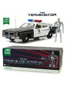 GREENLIGHT 19042 1/18 DODGE MONACO POLICE & T-800 ENDOSKELETON