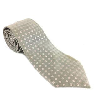 Louis Vuitton Monogram Dot Silver Silk Tie /A0081