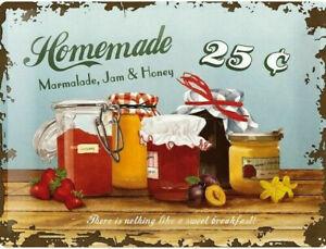 Nostalgic Art Homemade Confiture Et Miel Heimarbeit Panneau Métallique 30 x 40