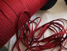 biais vintage ruban plat cordon fin rouge lie de vin  lacet corsage 10 mètre