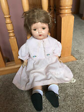 "Large 26"" Beautiful Composition Cloth Antique Vintage Unknown Mama Girl Doll"