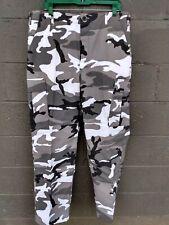 Urban Camoflage BDU MENS ARMY Cargo Pants BDU Military SWAT Ripstop Large