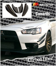 Carbon Fiber Front Bumper Side Canards 4 PCS for Mitsubishi Evolution X EVO 10