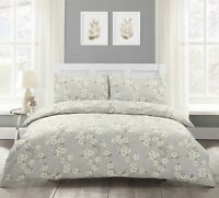 Cherry Blossom Natural Floral Duvet Quilt Cover Bedding Set Single Double King