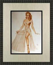Alberto Vargas Linda Darnell Custom Framed Print FREE SHIPPING