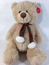 "Animal Adventure Teddy Bear NOEL Plush Brown Stuffed Toy JUMBO 20"" NWT Scarf"