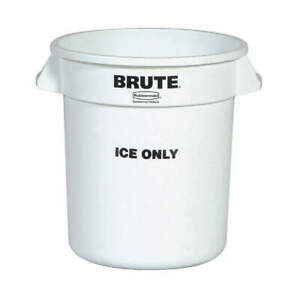 RUBBERMAID COMMERCIAL PRODUCTS FG9F8600WHT 10 GALLON BRUTE CONTAINER ICE ONLY