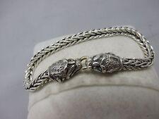 schönes Armband mit asiatischen Drachenköpfen aus Silber 800 punziert