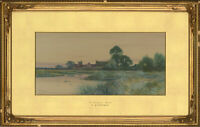 Frederick Gordon Fraser - Early 20th Century Watercolour, Near Holywell, Hunts