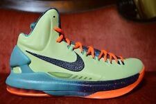 TRIED ON NIKE AIR ZOOM MAX KD V 5 ALL STAR AREA 72 AS GREEN ORANGE SIZE 9