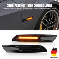 LED Seitenblinker Blinker Getönt Schwarz für BMW E82 E88 E60 E61 E90 E91 E92 E93