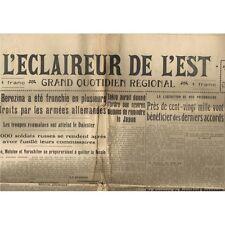 L'ÉCLAIREUR de L'EST 5 Juillet 1941 Accord Prisonniers Pétain et  Inonu Roosevel