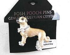 Posh Pooch Lanren-Spencer Pin Brooch Anatolian Shepherd Dog Austrian Crystals